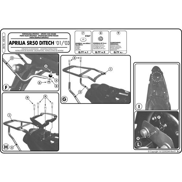 GIVI Topkofferhouder Monolock - SR SR78