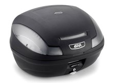 GIVI E470 Simply III top case reflecterus fumé, cache noir