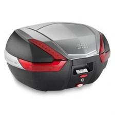 V47 topkoffer rode reflectoren, aluminium afwerking
