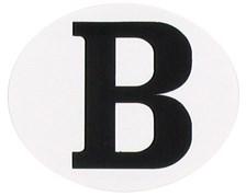 "RAD autocollant ""B"" ovale horizontale"