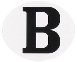 "RAD ""B"" sticker ovaal horizontaal"