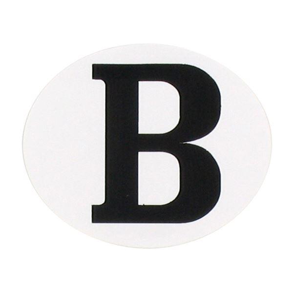 "RAD Autocollant ""B"" ovale horizontale autocollant ""B"" ovale horizontale"