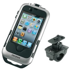 INTERPHONE iPhone 4 houder moto, zilver