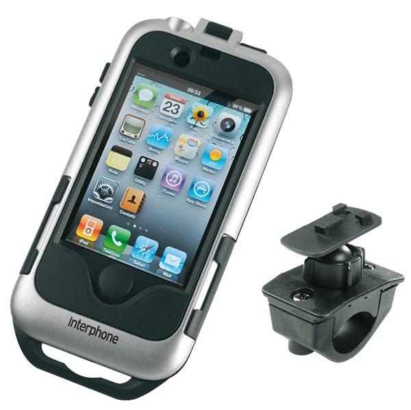 INTERPHONE iPhone 4 houder moto, zilver
