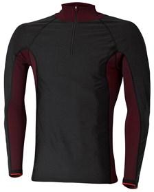 HELD Function Shirt Windblocker Skin Long sleeves - zwart-rood