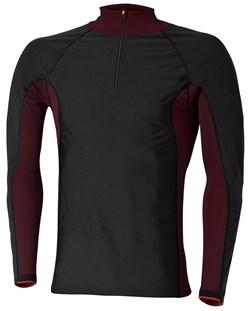 HELD : Function Shirt Windblocker Skin - Long sleeves - noir-rouge