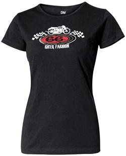 """HELD : T-Shirt """"Retro Bike"""" Lady - Zwart"""
