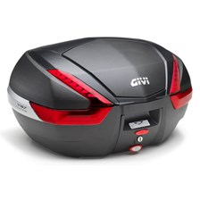 GIVI V47 top case reflecteurs rouges, finition carbon