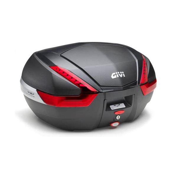 GIVI V47 topkoffer rode reflectoren, carbon afwerking
