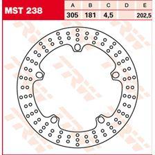 TRW MST vaste remschijf MST238