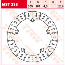 TRW MST disque de frein fixe MST238