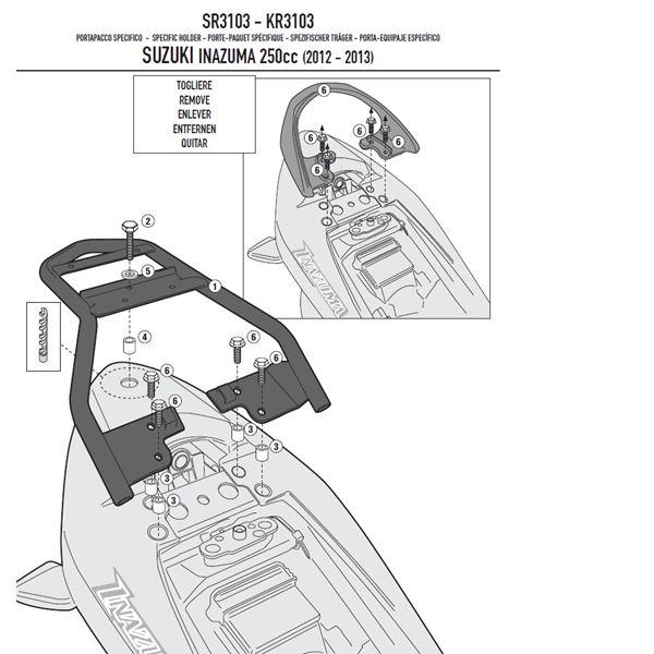 GIVI Topkofferhouder Monolock - SR SR3103