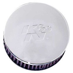K&N : Luchtfilter universeel verchroomd - RC-0850