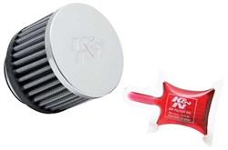 K&N : Luchtfilter universeel verchroomd - RC-0910