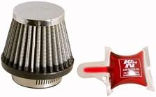 K&N Luchtfilter universeel verchroomd RC-2490