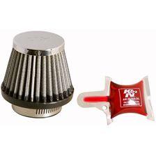 K&N Filtre à air universel chromé RC-2490