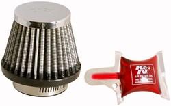 K&N : Luchtfilter universeel verchroomd - RC-2490