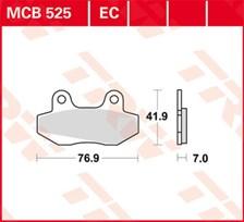TRW Plaquettes de frein organique EC MCB525EC