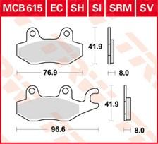 TRW Plaquettes de frein organique EC MCB615EC