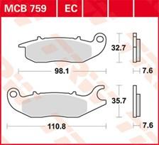 TRW Plaquettes de frein organique EC MCB759EC