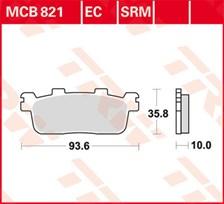 TRW Plaquettes de frein organique EC MCB821EC