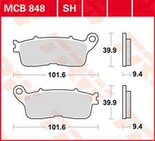 TRW Plaquettes de frein SV/SH MCB848SH