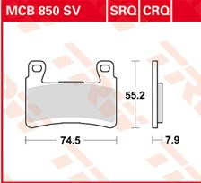 TRW Plaquettes de frein SRQ  MCB850SRQ