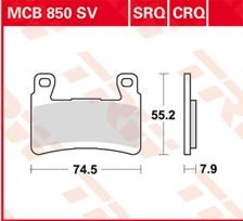 TRW Plaquettes de frein SV/SH MCB850SV