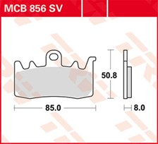 TRW Plaquettes de frein SV/SH MCB856SV