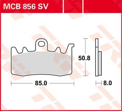 TRW SV/SH Remblokken MCB856SV