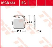 TRW Plaquettes de frein organique EC MCB561EC