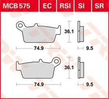 TRW Plaquettes de frein organique EC MCB575EC