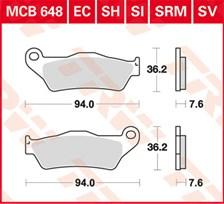 TRW Plaquettes de frein organique EC MCB648EC