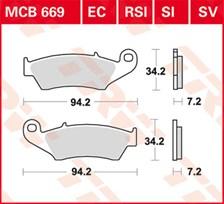 TRW Plaquettes de frein organique EC MCB669EC