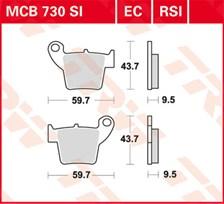 TRW Plaquettes de frein organique EC MCB730EC