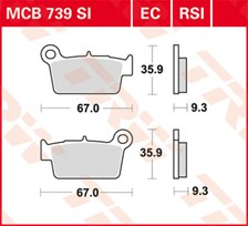TRW Plaquettes de frein organique EC MCB739EC