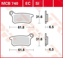 TRW Plaquettes de frein organique EC MCB740EC