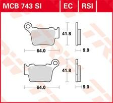 TRW Plaquettes de frein organique EC MCB743EC