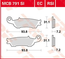 TRW Plaquettes de frein organique EC MCB791EC