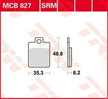 TRW Plaquettes de frein organique MCB827