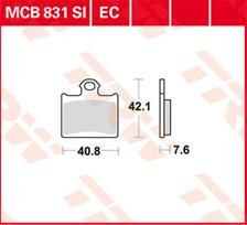 TRW Plaquettes de frein organique EC MCB831EC