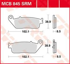 TRW Plaquettes de frein métal fritté SRM MCB845SRM