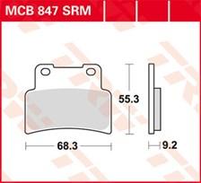 TRW Plaquettes de frein métal fritté SRM MCB847SRM
