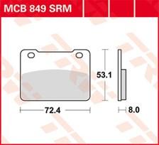 TRW Plaquettes de frein métal fritté SRM MCB849SRM
