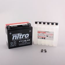 NITRO Batterie fermée avec pack acide YT12B-BS