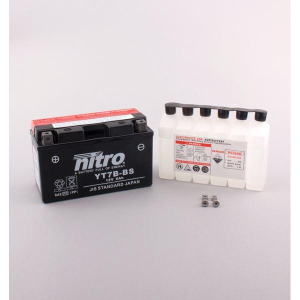 NITRO Batterie fermée avec pack acide YT7B-BS