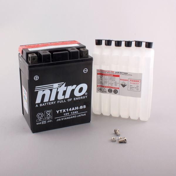 NITRO Batterie sans entretien haute performance YTX14AH-BS
