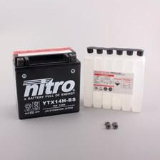 NITRO Batterie sans entretien haute performance YTX14H-BS