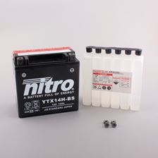 NITRO Onderhoudsvrije batterij high power YTX14H-BS