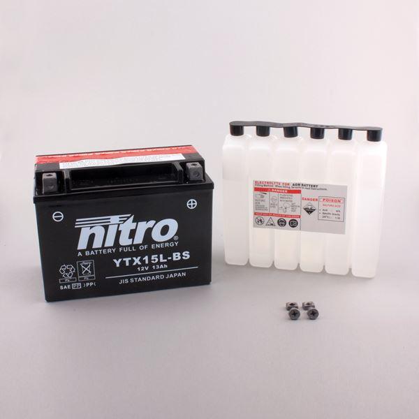 NITRO Batterie sans entretien YTX15L-BS
